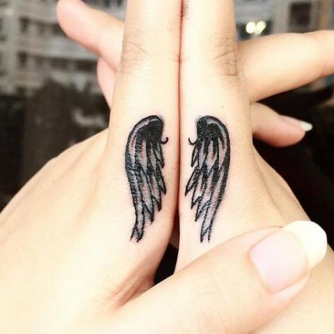 Anioł Skrzydła Tatuaże Palec Pomysły I Wzory Tatuaży Dla Kobiet