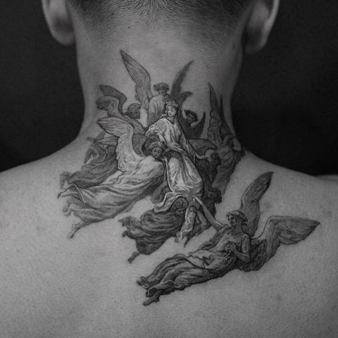Anioły tatuaż
