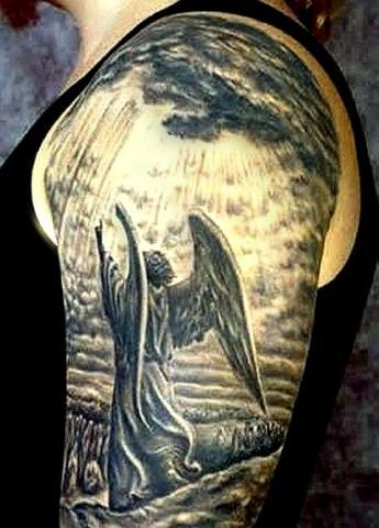 Anioły Tatuaże Na Ramieniu Pomysły I Wzory Tatuaży Dla