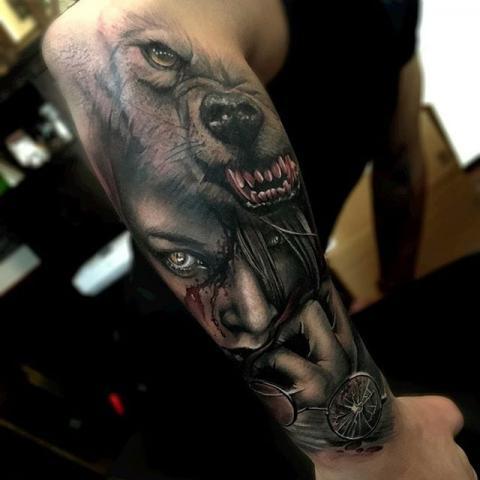 Horror Tatuaż Pomysły I Wzory Tatuaży Dla Kobiet Mężczyzn Human