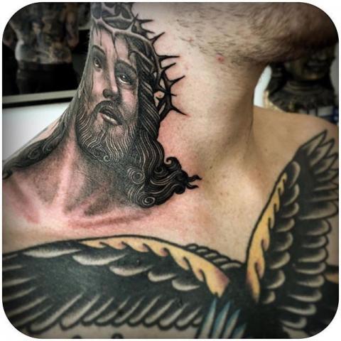 Jezus Szyja Tatuaż Pomysły I Wzory Tatuaży Dla Kobiet Mężczyzn