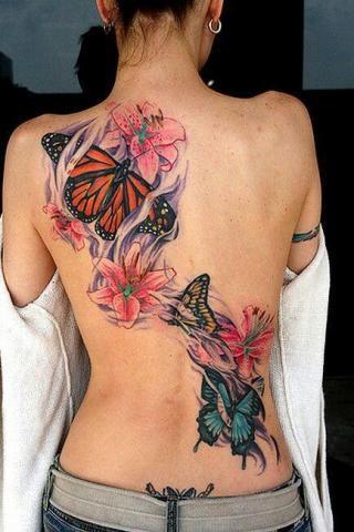 Kolorowy Tatuaż Na Kobiecych Plecach Pomysły I Wzory