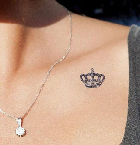 Korona Na Obojczyku Tatuaż Pomysły I Wzory Tatuaży Dla