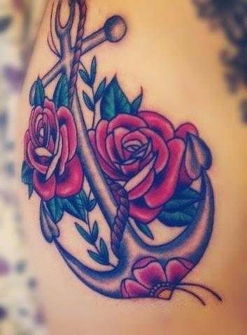 Kotwica I Róże Pomysły I Wzory Tatuaży Dla Kobiet Mężczyzn Human