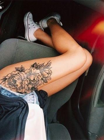 Kwiat Na Nodze Pomysły I Wzory Tatuaży Dla Kobiet