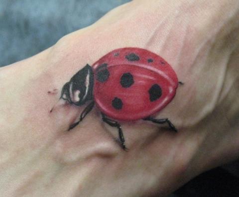 Tatuaże Biedronka Ladybug Tattoo Wzory Tatuaży