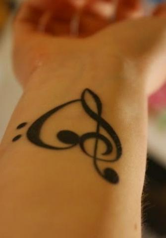 Muzyka Serce Tatuaż Na Nadgarstku Pomysły I Wzory Tatuaży