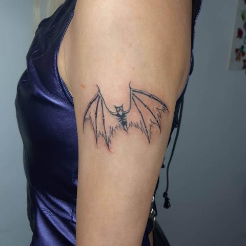 Nietoperz tatuaż