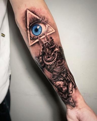 Oko na ręcę tatuaż