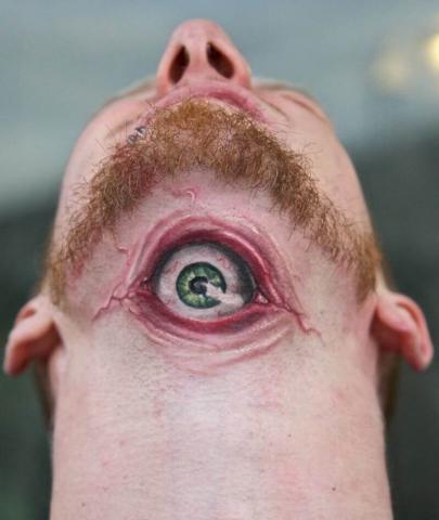 Oko tatuaż męski