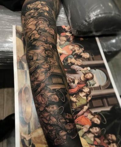 Ostatnia wieczerza tatuaż