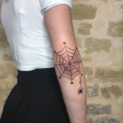 Pająk i pajęczyna tatuaż