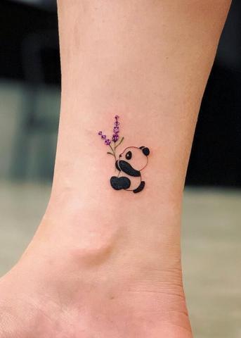 Panda na kostce