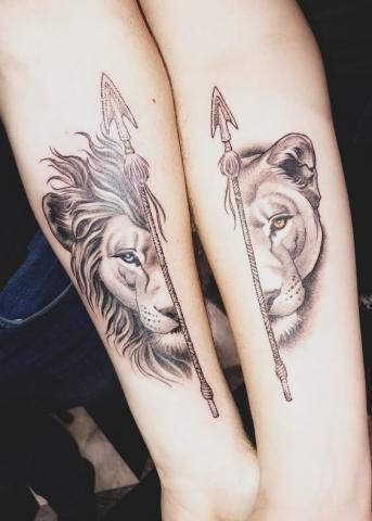 Pary tatuaże