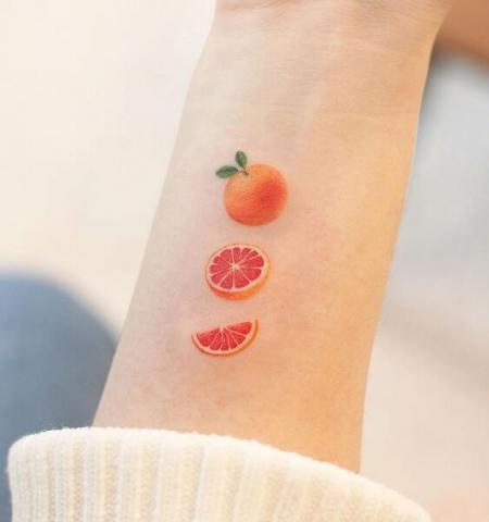Pomarańcz tatuaż