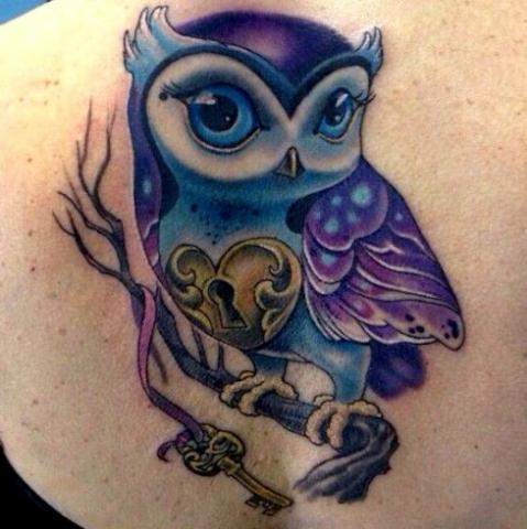 Tatuaże Sowa Owl Tattoo Wzory Tatuaży Największa