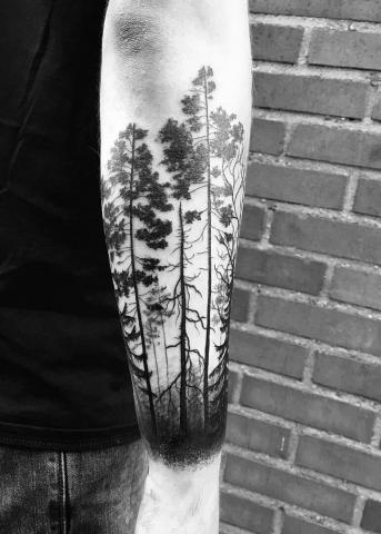 Ręka drzewo tatuaż