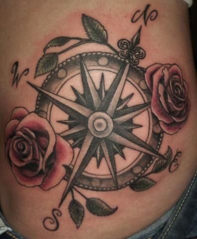 Róża Wiatrów Tatuaż 3d Pomysły I Wzory Tatuaży Dla Kobiet