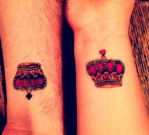 Tattoos King And Queen Pomysły I Wzory Tatuaży Dla Kobiet