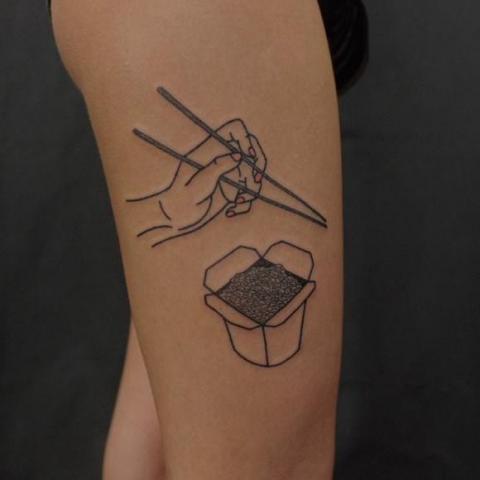 Tatuaż Chińskie Jedzenie Pomysły I Wzory Tatuaży Dla