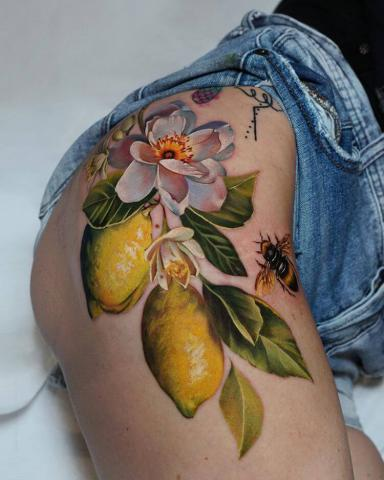 Tatuaż cytryny
