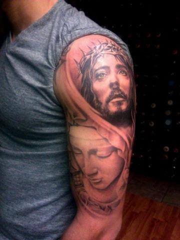 Tatuaż Głowa Jezusa Pomysły I Wzory Tatuaży Dla Kobiet