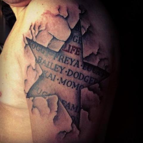 Tatuaż Gwiazda 3d Pomysły I Wzory Tatuaży Dla Kobiet Mężczyzn