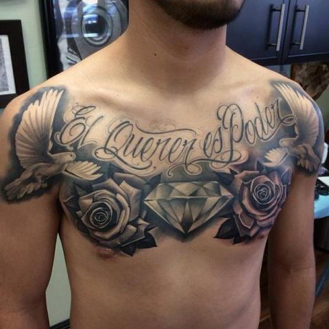 Tatuaż Klatka Piersiowa Pomysły I Wzory Tatuaży Dla Kobiet