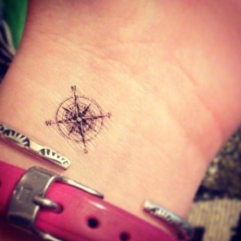 Tatuaże Kompas Compass Tattoo Wzory Tatuaży Największa Galeria