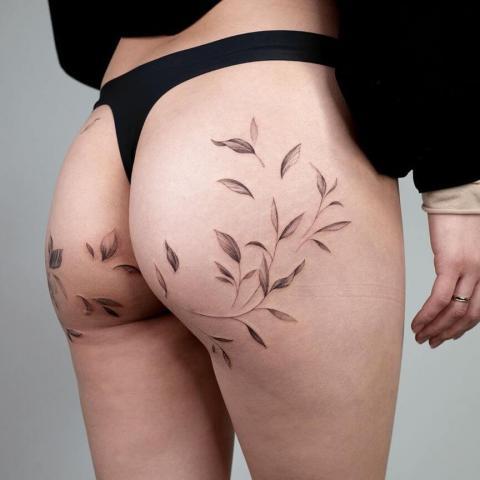 Tatuaż na pośladkach wzory