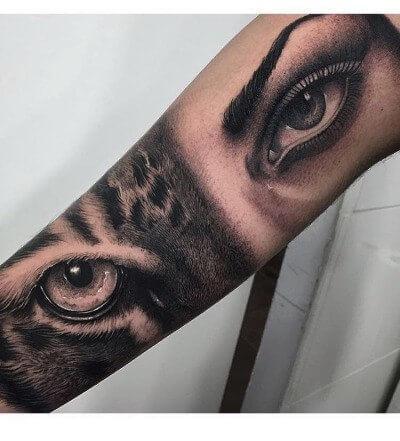 Tatuaż oczy