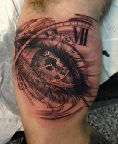 Tatuaż Oko Zegar Pomysły I Wzory Tatuaży Dla Kobiet