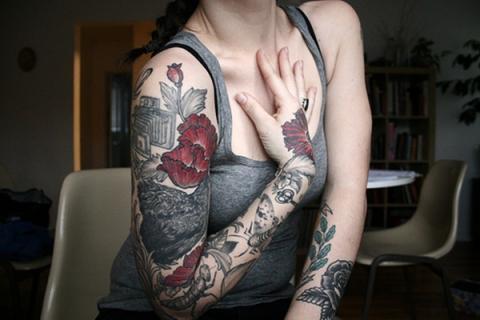 Tatuaż Rękaw Kwiaty Pomysły I Wzory Tatuaży Dla Kobiet