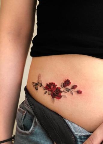 Tatuaż różyczki