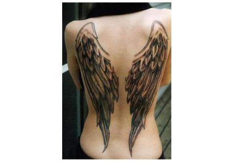 Tatuaż Skrzydła Anioła Pomysły I Wzory Tatuaży Dla Kobiet