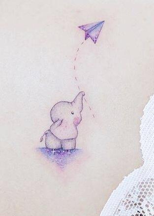 Tatuaż słoniątko