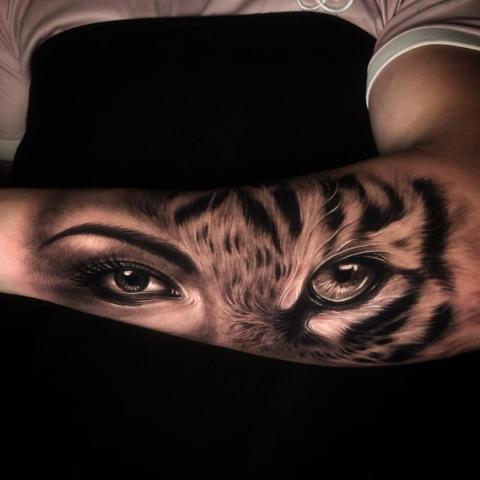 Tatuaż spojrzenie