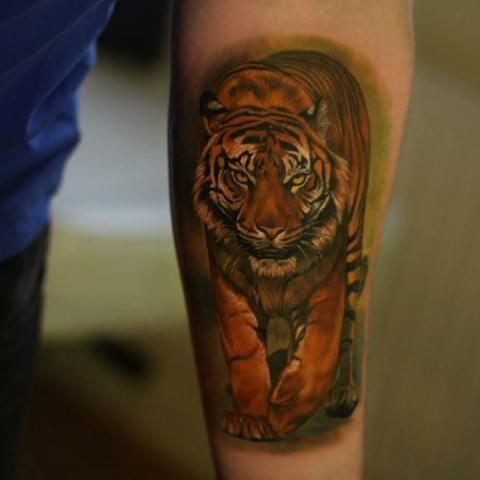 Tatuaż Tygrys 3d Pomysły I Wzory Tatuaży Dla Kobiet