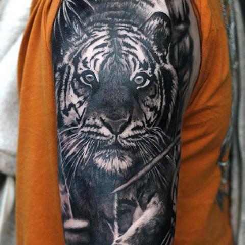 Tatuaż Tygrys Na Ramieniu Pomysły I Wzory Tatuaży Dla