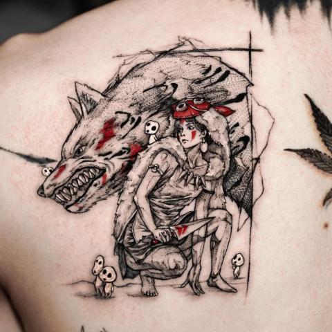 Tatuaż z motywem wilka