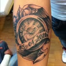 Tatuaże Zegar Clock Tattoo Wzory Tatuaży Największa