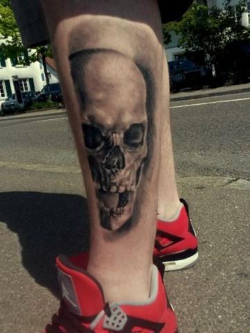 Tatuaże Czaszki Na łydce Pomysły I Wzory Tatuaży Dla