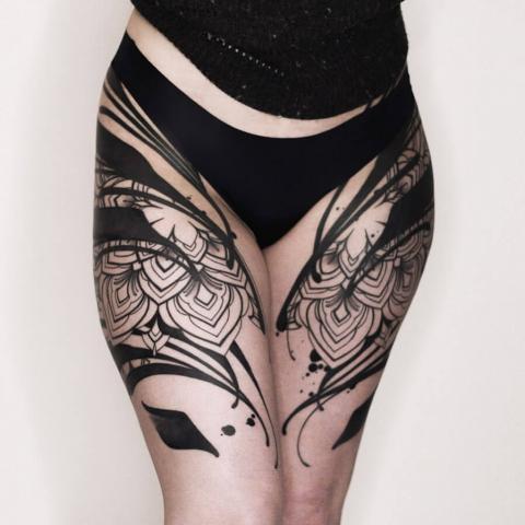 Tatuaże damskie ud