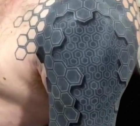 Tatuaże Geometryczny Sześciokąt Pomysły I Wzory Tatuaży Dla Kobiet
