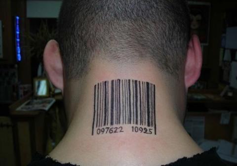 Tatuaże Kod Kreskowy Barcode Tattoo Wzory Tatuaży