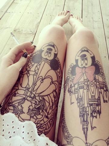 Tatuaże Myszka Miki Pomysły I Wzory Tatuaży Dla Kobiet
