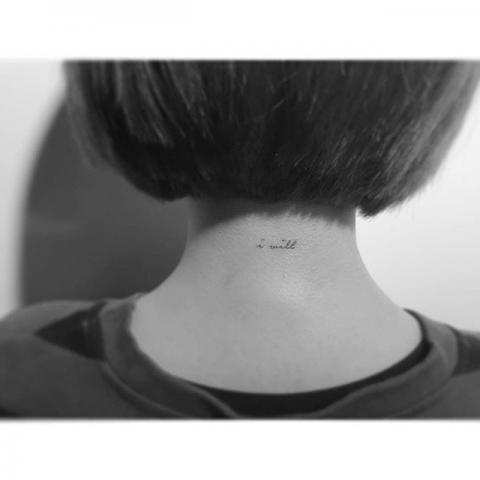 Tatuaże Napisy Na Karku Pomysły I Wzory Tatuaży Dla Kobiet