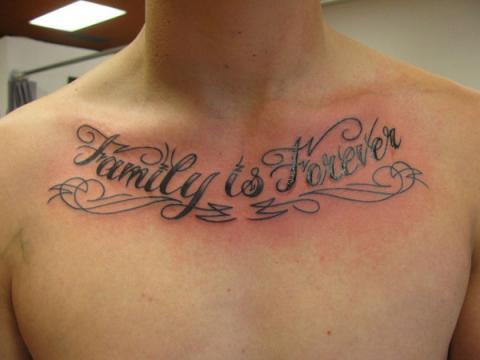 Tatuaże Napisy Na Klatce Piersiowej Pomysły I Wzory