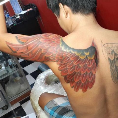 Tatuaże Skrzydła Anioła Na Ręce Pomysły I Wzory Tatuaży Dla Kobiet