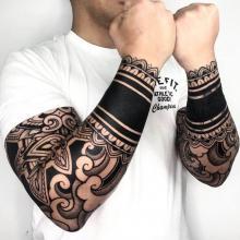 Tatuaż męski na rękach